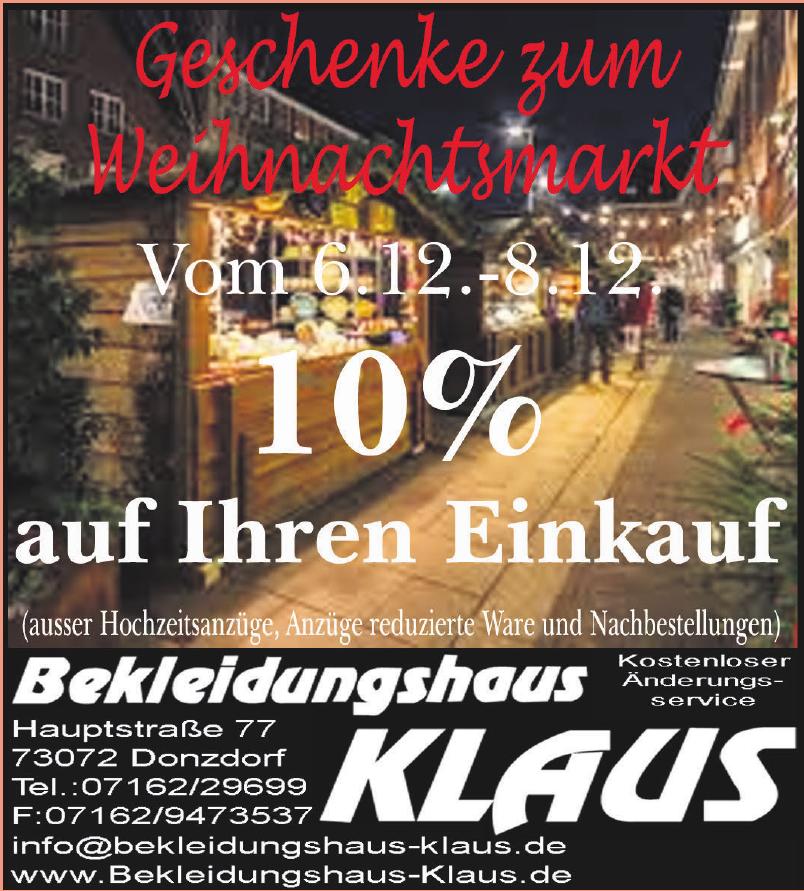 Bekleidungshaus Klaus