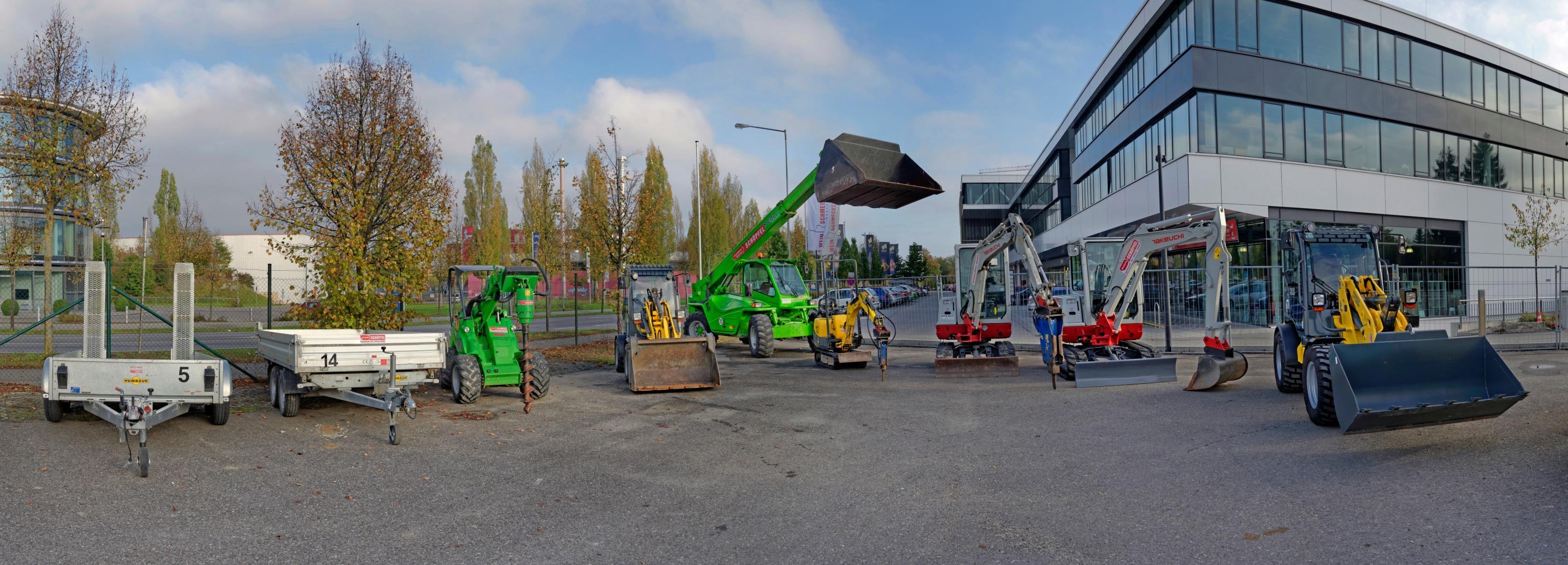 Mehr als 100 Klein- und Großgeräte stehen im Mietpark für Baumaschinen in Ingolstadt-Friedrichshofen zur Ausleihe für Kunden zur Verfügung. Fotos: Schöpfel