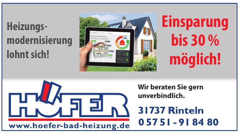 HÖFER Heizungsbau GmbH