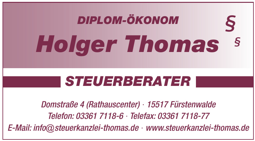 Holger Thomas - Steuerberater