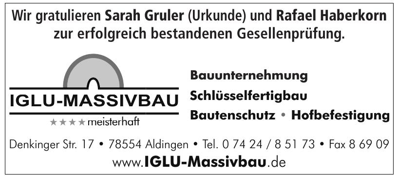 Iglu-Massivbau