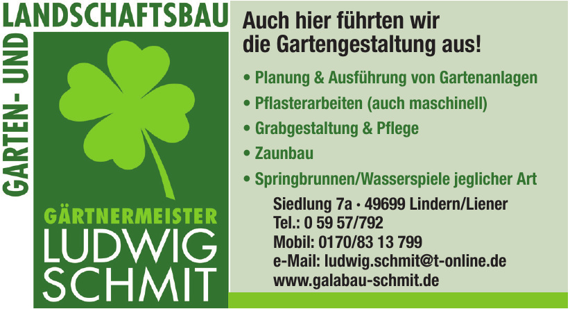 Gärtnermeister Ludwig Schmit - Garten- und Landschaftsbau