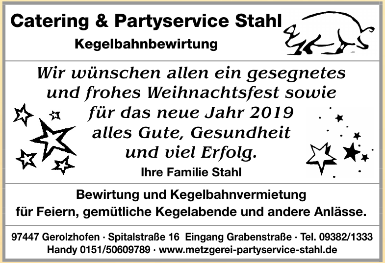 Catering & Partyservice Stahl Kegelbahnbewirtung