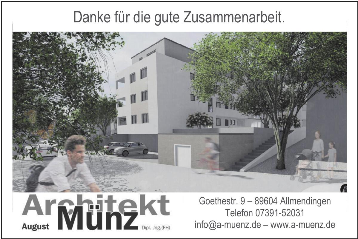 Architekt August Münz