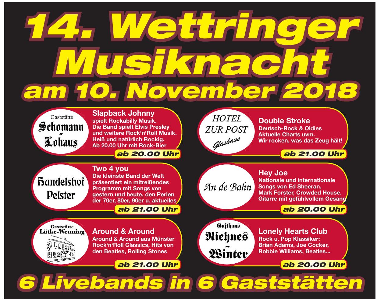 14. Wettringer Musiknacht