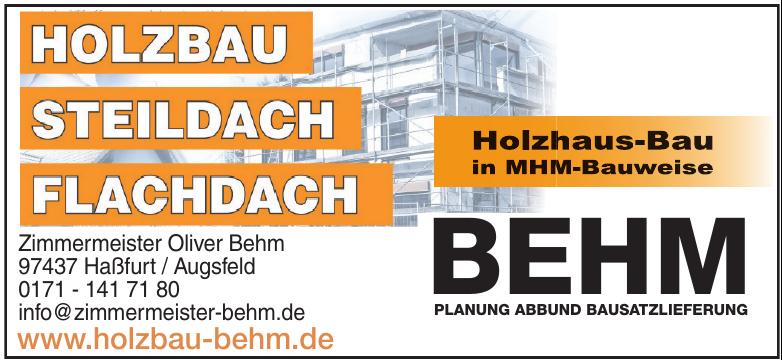 Behm Planung Abbund Bausatzlieferung