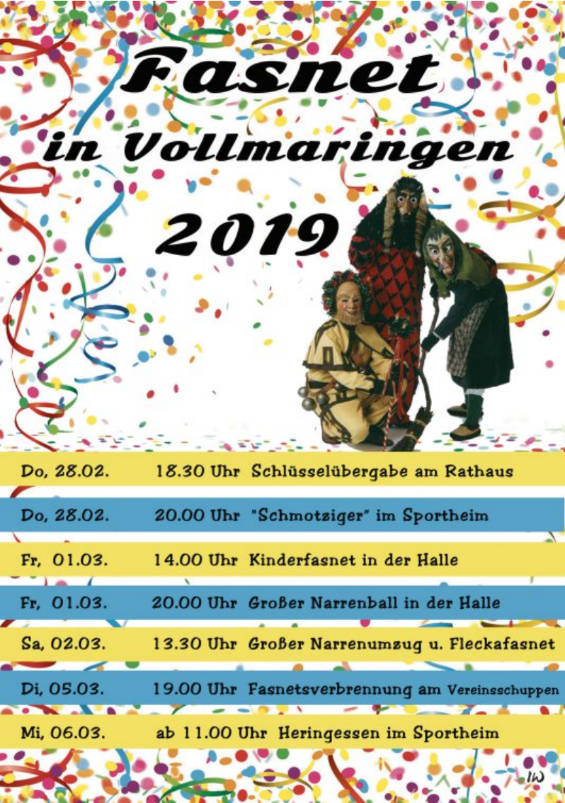Fasnet in Vollmaringen 2019