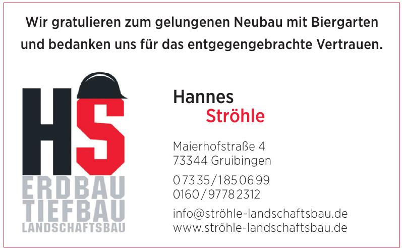 Hannes Ströhle Erdbau - Tiefbau - Landschaftsbau