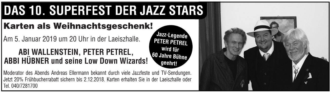 Das 10. Superfest der Jazz Stars