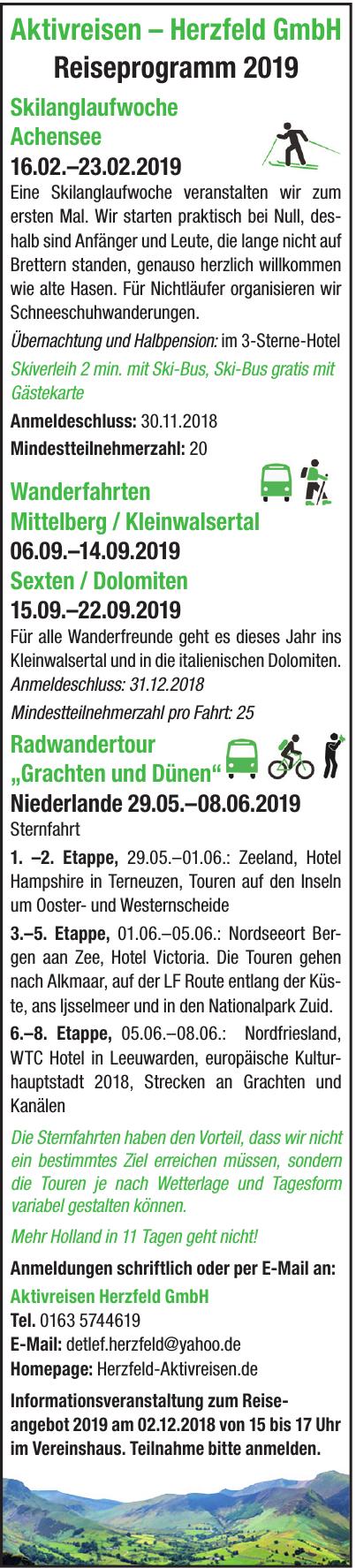 Aktivreisen Herzfeld GmbH