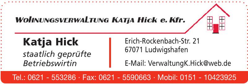 Wohnungsverwaltung Katja Hick e. Kfr.