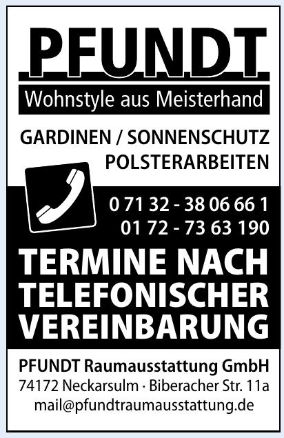 PFUNDT Raumausstattung GmbH