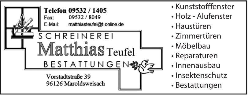 Schreinerei Matthias Teufel Bestattungen
