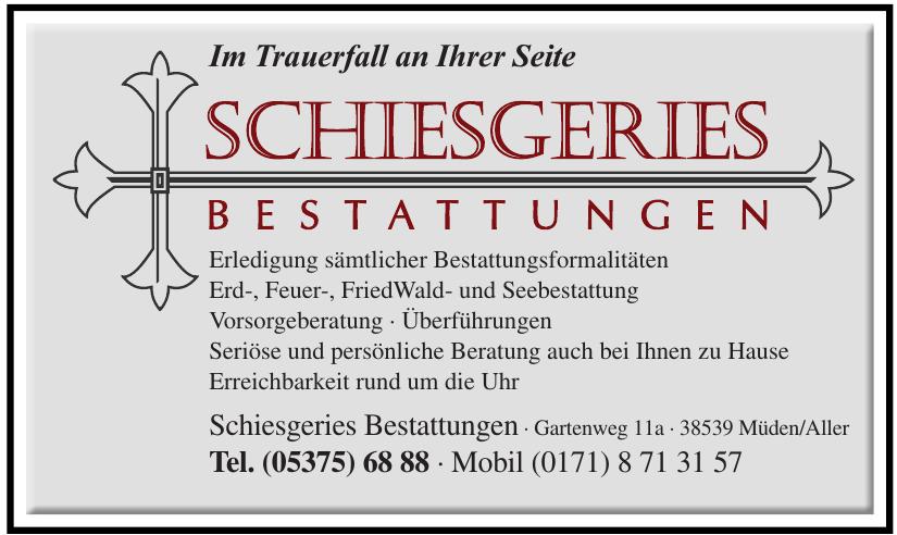 Schiesgeries Bestattungen