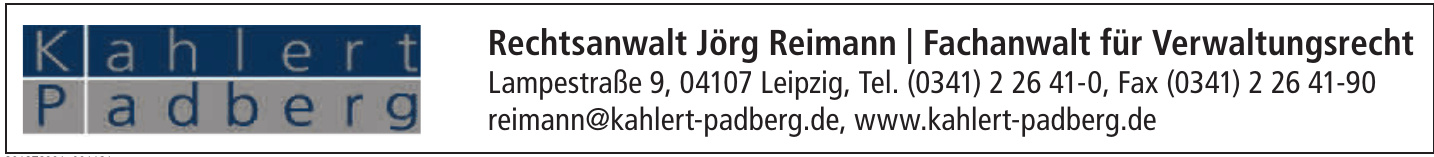 Rechtsanwalt Jörg Reimann / Fachanwalt für Verwaltungsrecht