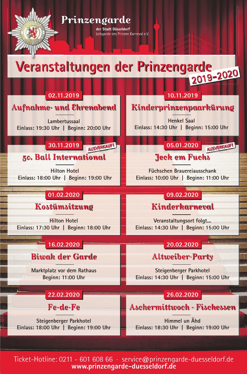 Prinzengarde der Stadt Düsseldorf Leibgarde sed Prinzen Karneval e.V.