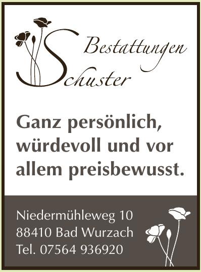 Schuster Bestattungsdienst