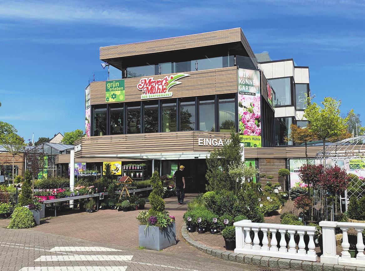 Meyer's Mühle präsentiert sich heute als modernes Gartencenter, in dem gekauft, aber auch live miterlebt werden kann...