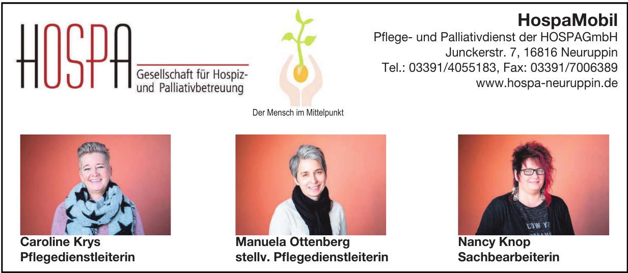 HospaMobil Pflege- und Palliativdienst der HOSPA GmbH