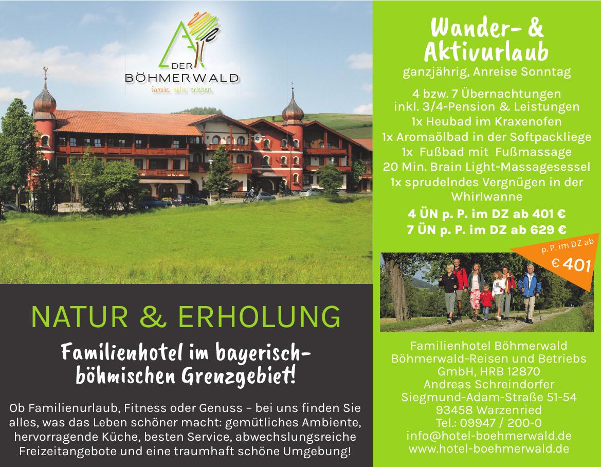 Familienhotel Böhmerwald Böhmerwald-Reisen und Betriebs GmbH