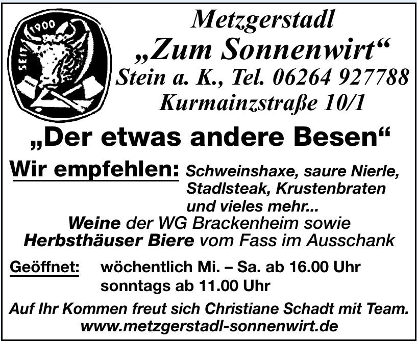 "Metzgerstadl ""Zum Sonnenwirt"""