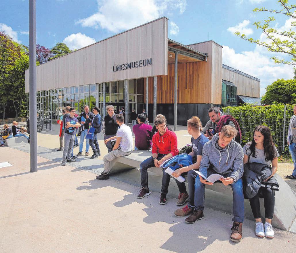 Der Vorplatz des Limesmuseums wurde neu gestaltet.