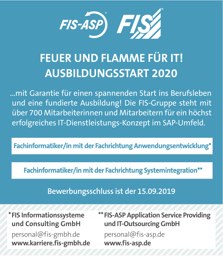 FIS-ASP Application Service Providing und Consulting GmbH und IT-Outsourcing GmbH