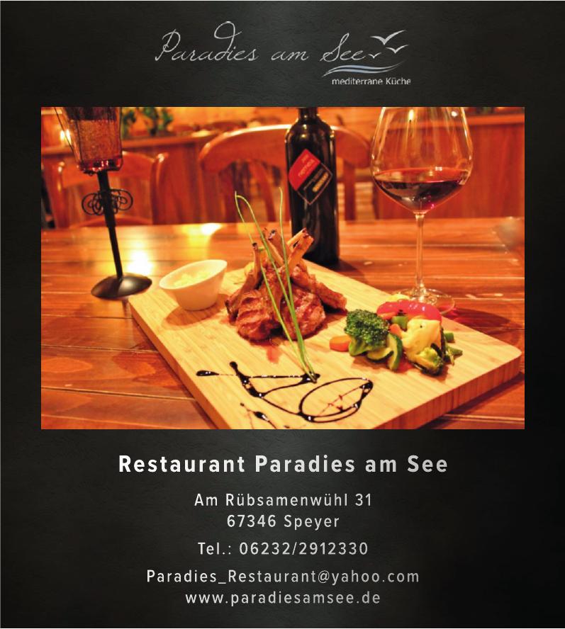 Restaurant Paradies am See