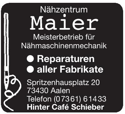 Nähzentrum Maier Meisterbetrieb für Nähmaschinenmechanik