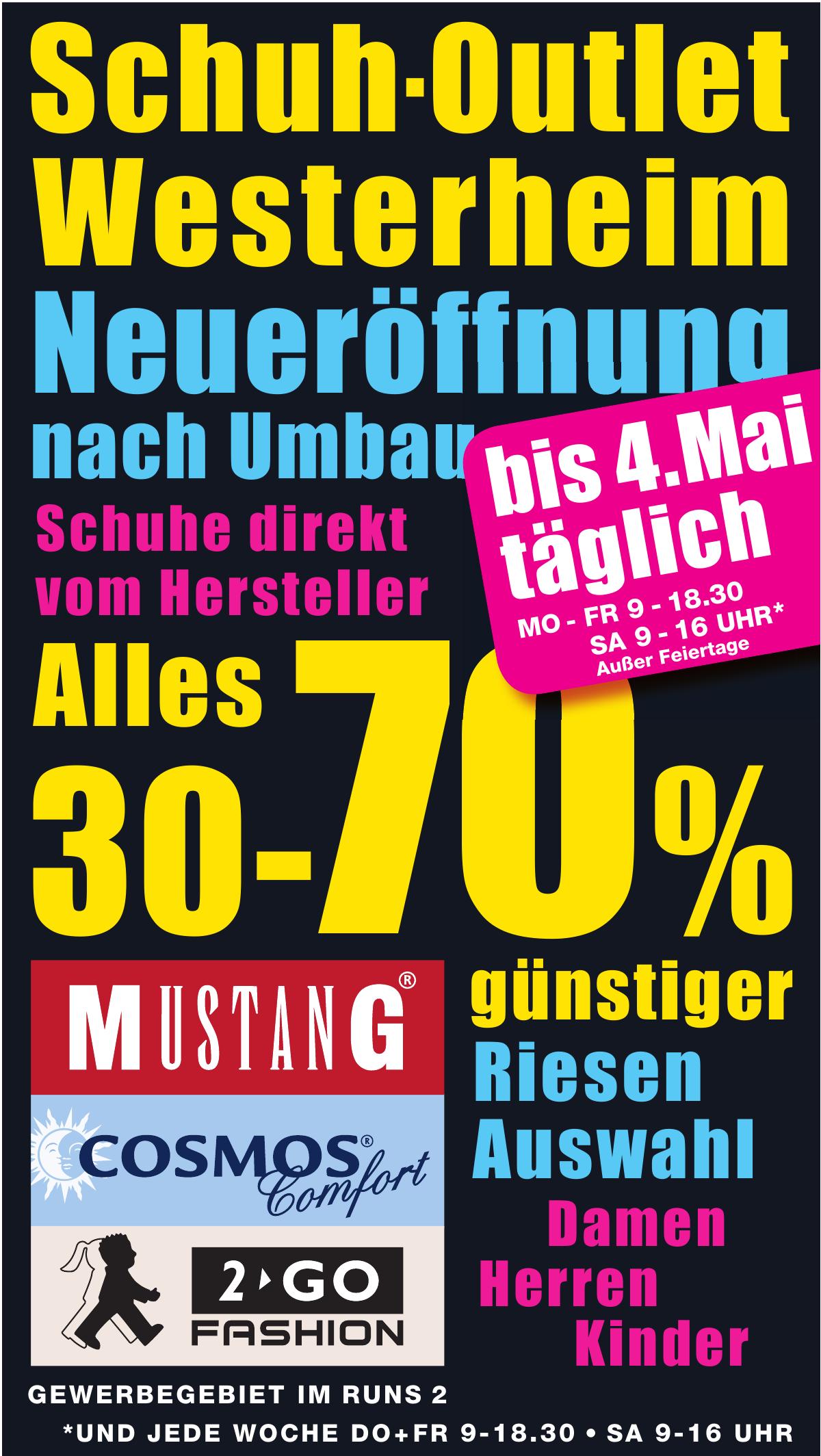 the latest 8a7b4 4abfe Schuh-Outlet Westerheim im Gewerbegebiet im Runs 2