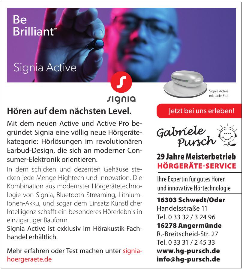Hörgeräteservice Gabriele Pursch