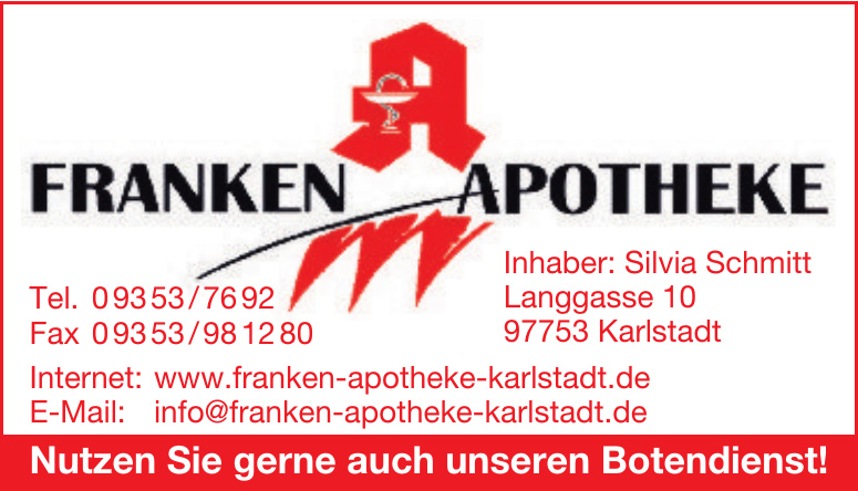 Franken Apotheke Karlstadt