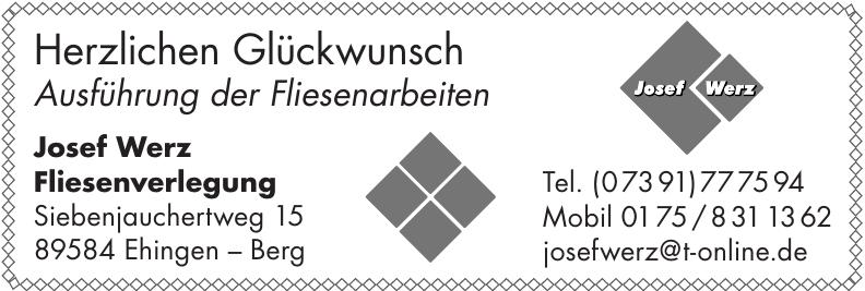 Josef Werz Fliesenverlegung