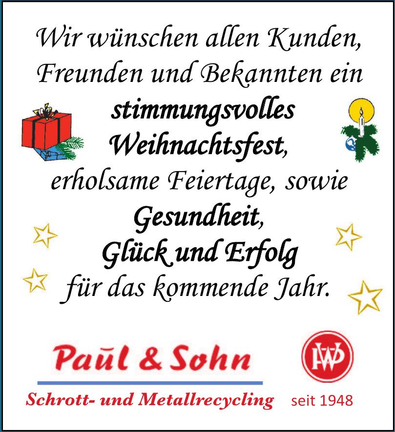 Paul & Sohn GmbH Schrott- und Metallrecycling
