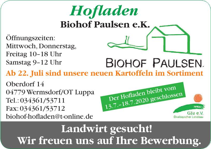 Hofladen Biohof Paulsen e.K.