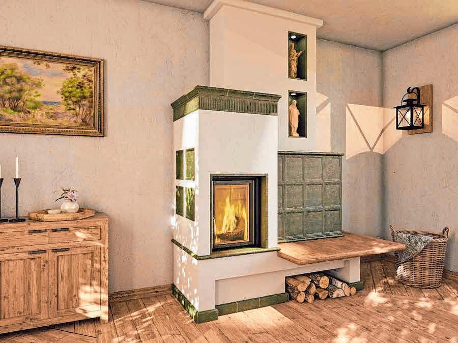 Eine Feuerstätte kann auch Highlight einer Wohnlandschaft sein.