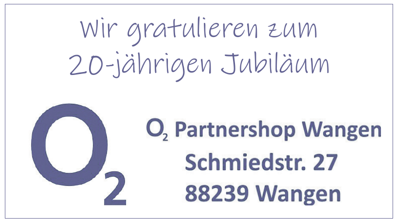 O2 Partnershop Wangen