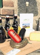 Im Hofladen werden die Produkte von Landgourmet verkauft.