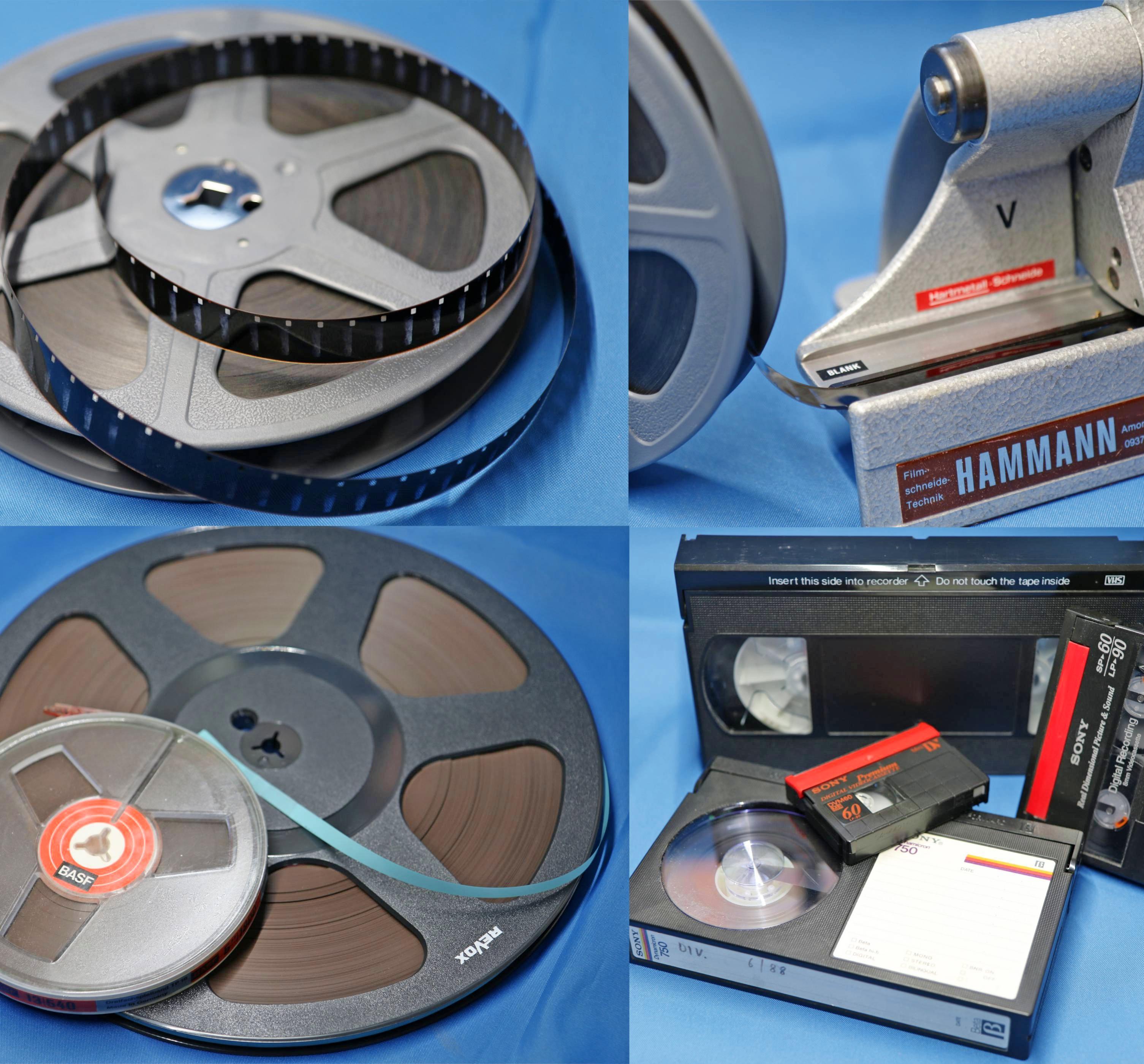 Alte Formate werden bei MG-Electronic digitalisiert.