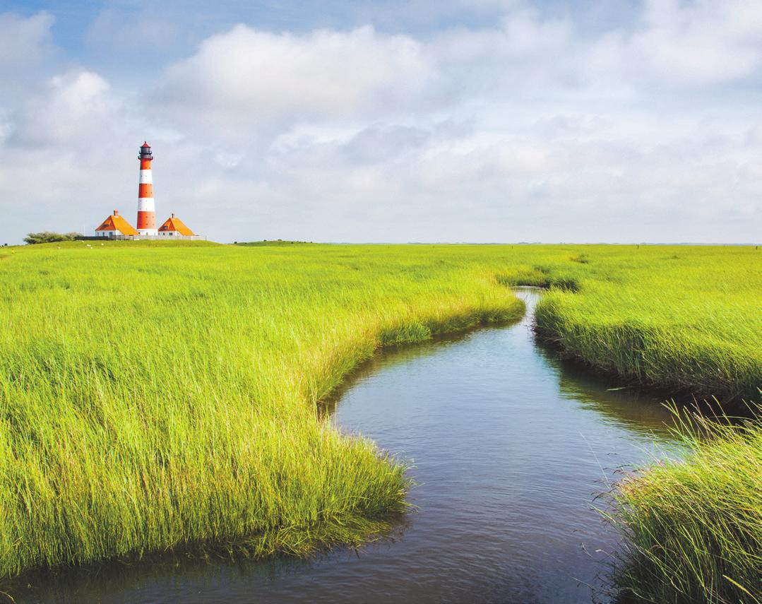 Nordfrieslands berühmter Leuchtturm Westerheversand. Foto: Shutterstock   canadastock