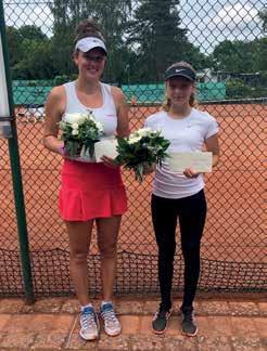Finale Damen: Lina Hohnhold (l, TC Hilden) – Anna-Marie Weißheim (SV Henstedt-Ulzburg) 6:2, 3:6, 10:7. Foto: Blankenese
