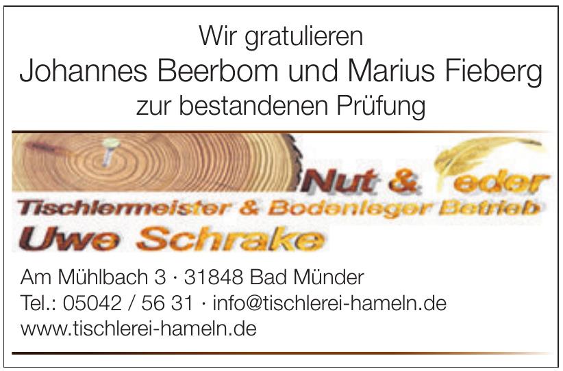 Nut & Feder Tischlermeister & Bodenleger Betrieb Uwe Schrake