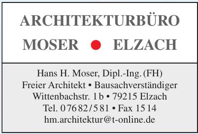 Hans H. Moser, Dipl.-Ing. (FH) Freier Architekt • Bausachverständiger