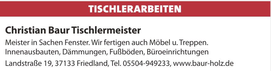 Christian Baur Tischlermeister