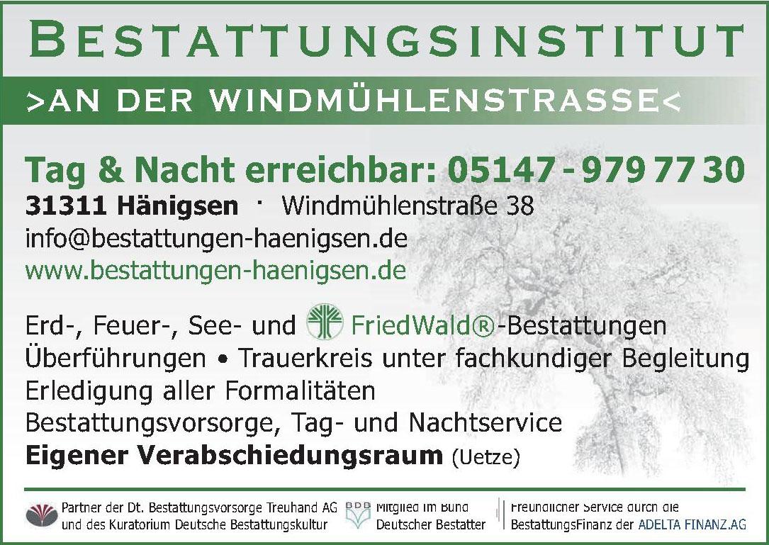 Bestattungsinstitut an der Windmühlenstraße