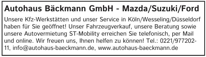 Autohaus Bäckmann GmbH