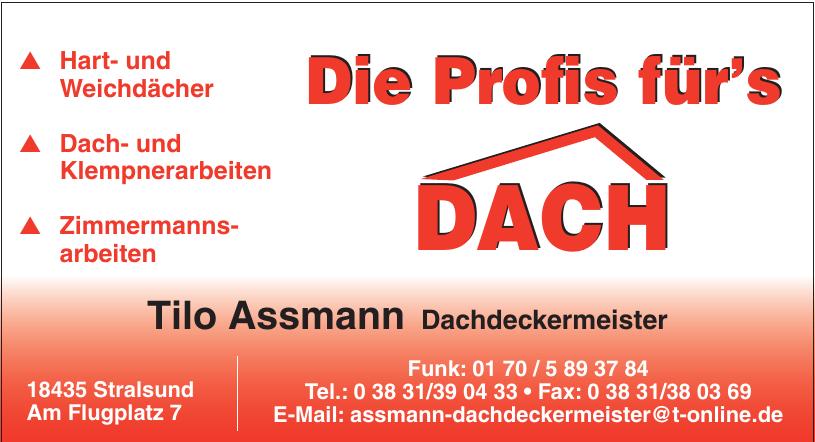 Tilo Assmann Dachdeckermeister