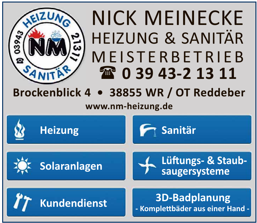 NM Nick Meinecke Heizung & Sanitär Meisterbetrieb