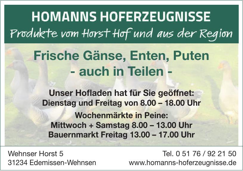 Homanns Hoferzeugnisse