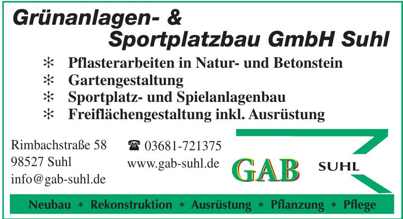 Grünanlagen- & Sportplatzbau GmbH Suhl